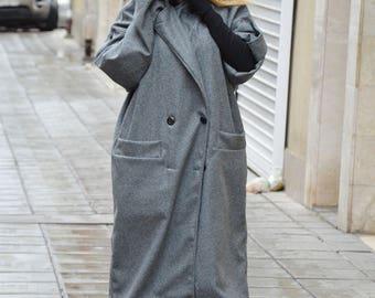 Maxi Elegant Cashmere Coat, Long Short Sleeves Coat, Casha Coat, Plus Size Wool Coat, Winter Cape by SSDfashion