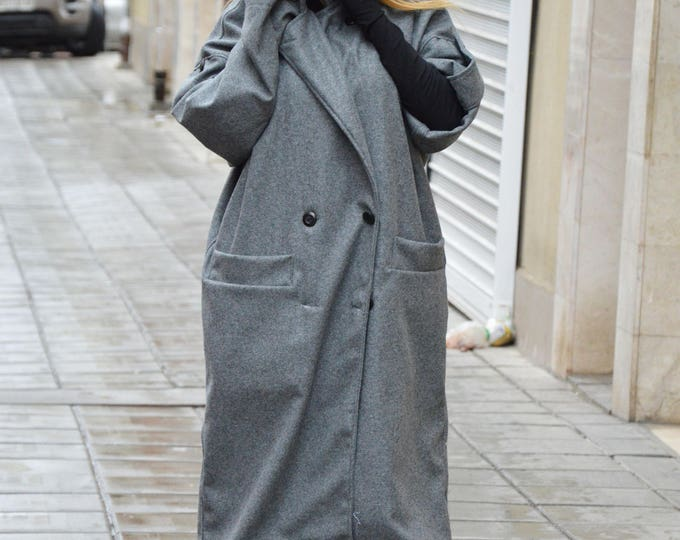 Maxi Elegant Cashmere Coat, Long Short Sleeves Coat, Casha Coat, Plus Size Wool Coat, Winter Cape by SSDfashion