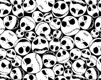 Nightmare Before Christmas Packed Jack Cotton Woven, Nightmare Before Christmas Fabric, Jack Skellington Fabric, Cotton Woven Fabric