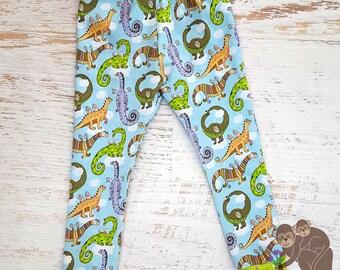 Dragonsaurus cuffed leggings for toddler size 2/3T