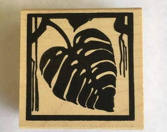 Monstera Rubber Stamp