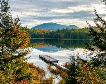 Lake Photography, Home Decor, Adirondack Decor, Mountain Photo, Camp Photo, Adirondack Mountains, Landscape Photograph, Adirondack Fine Art