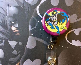 Batman in flight -Nurse Retractable ID Badge Reel/ RN Badge Holder/Doctor Badge Reel/Nurse Badge Holder/Nursing Student Gifts