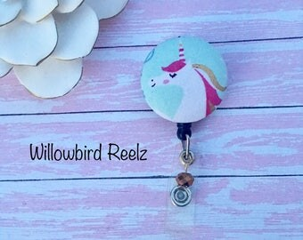 Unicorn Love -Nurse Retractable ID Badge Reel/ RN Badge Holder/Doctor Badge Reel/Nurse Badge Holder/Student Nurse badge reel/ nursing gift/