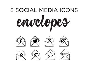 Social Media Icons, envelope icon, stationery Icons, Simple Icons, Blog icons, website icons