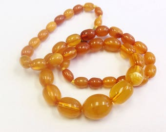 Vintage, Baltic Amber bead necklace.