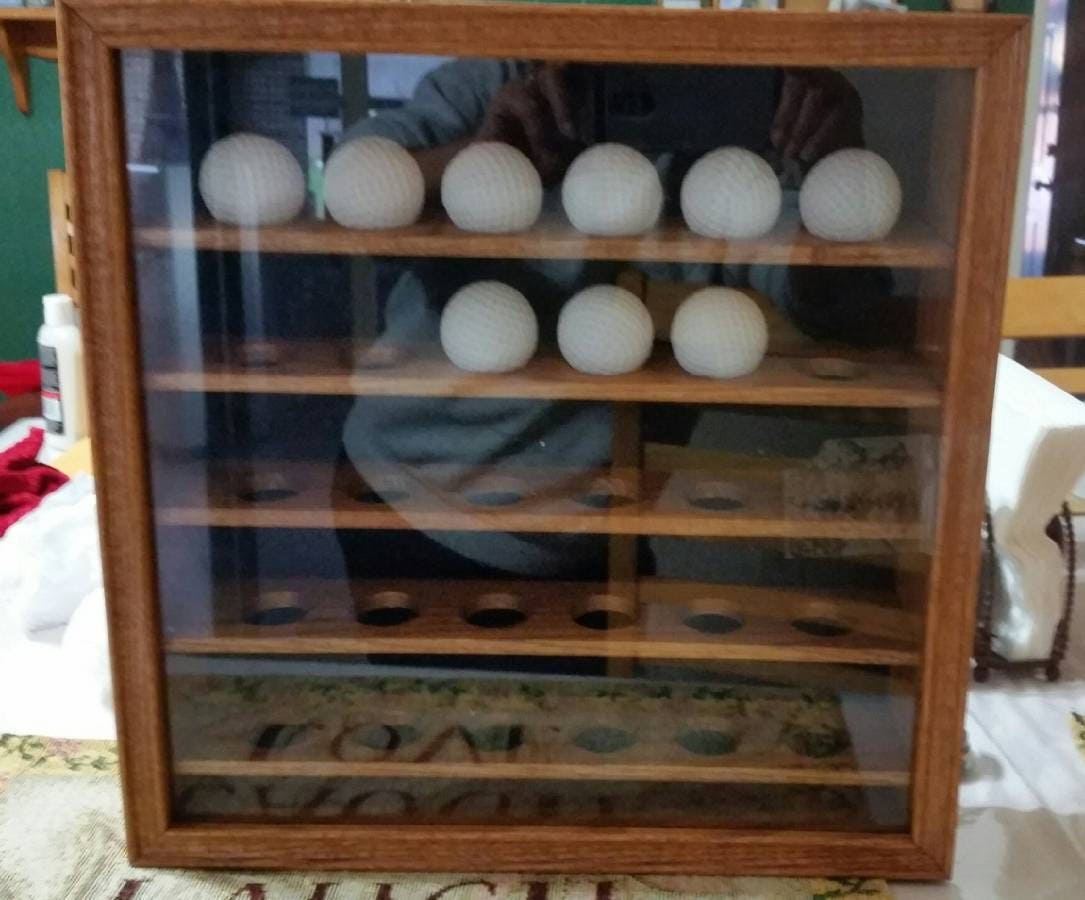 Golf Ball Cabinet, Vintage Tannery Lane Co Inc Wood Shadow Box, Golf, Man  Cave Golf Ball Storage, Wall Decor, Office, Home And Gameroom