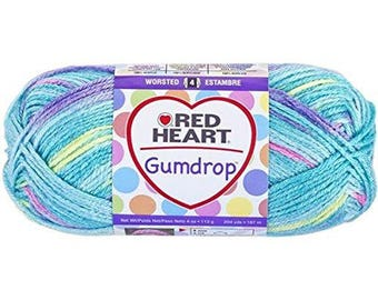 Coats Yarn Red Heart Gumdrop Yarn, Smoothie