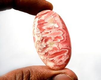 Natural Rhodochrosite 57 Cts Gemstone Loose Cabochon Pink Rhodochrosite Oval Shape 39x23x5 MM R13372
