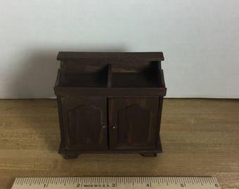 Dollhouse furniture vintage handmade dry sink