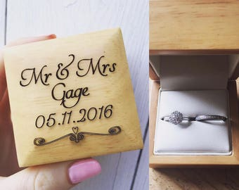Personalised Ring Box, Personalized Ring box, Wedding ring box, Engagement Ring Box, ring bearer