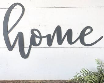 Home Metal Wall Art Extraordinary Home Metal Sign Metal Wall Art Home Sign Metal Words Design Inspiration