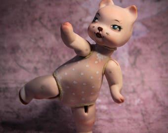 Little Kitten. Caramel. Porcelain OOAK BJD .