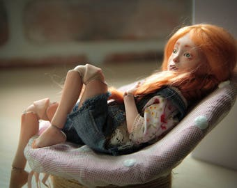 Anariel (daughter of the sun). Porcelain BJD. Little elf.