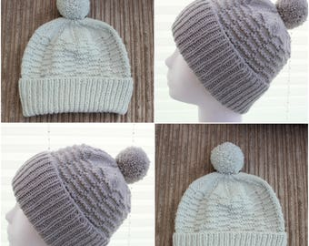 Instant download knitted ladies  beanie knitting pattern, Beanie, Cap KP390