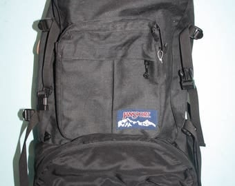 Jansport Hiking Bag Backpack Black Mountaineering Bag