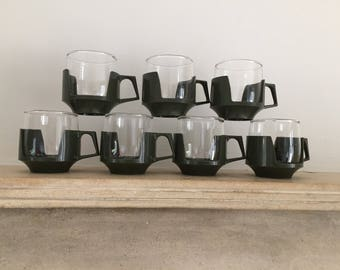 Seven Pyrex And Plastic Cups/Mugs 1970's