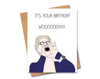 Funny Meryl Streep Meme Card