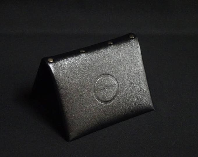 Bantam8 Wallet with Zip - Black Satin - Kangaroo leather with RFID credit card blocking - Handmade - James Watson