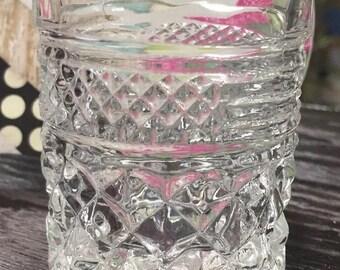 Vintage Clear Pressed Glass Toothpick Holder