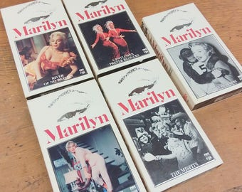 Marilyn Monroe VHS Cassette Video Tapes Hi-Fi Stereo~ CBS 1980 20th Century Fox ~ Set of 5