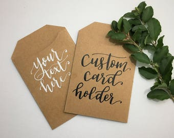 Gift card holders etsy custom calligraphy gift card holders any occasion hand lettered gift card holder custom calligraphy negle Gallery