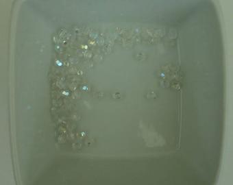 Set of 20 transparent 4 mm Swarovski faceted beads