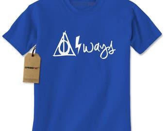 Always Hallows Lightning Bolt Mens T-shirt
