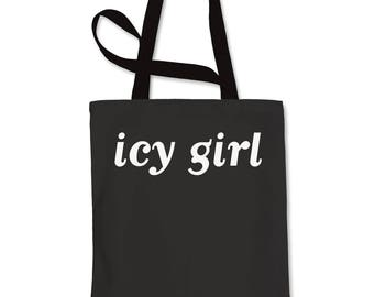 Icy Girl Shopping Tote Bag