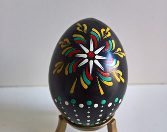 Hand painted Lithuanian wooden Easter Egg