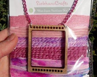 Pink mini loom necklace kit