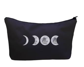 Moon Cosmetic Makeup Case Bag Box Purse Pocket Fullprint Phases Space Cocsmos Astronomy Full