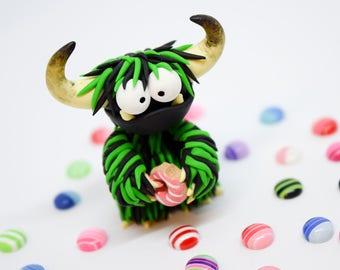 Monster / Monster Gift / Monster Figurine / Doughnuts / Shelf Decor / Monster Sculpture