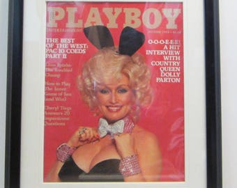 Vintage Playboy Magazine Cover Matted Framed : October 1978 - Dolly Parton