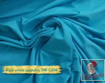 Knit, 200 gsm, Aqua, cotton-spandex, 92-8%, jersey, spandex, multiple quantity cut in one piece,