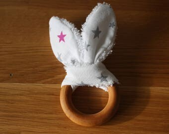 100% natural wooden teething ring