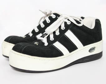 90s Skechers Y2K Platform Sneakers Chunky Shoes Grunge Shoes Hipster Shoes Spice Girl Shoes Striped Sneakers 90s Sneakers Size 9