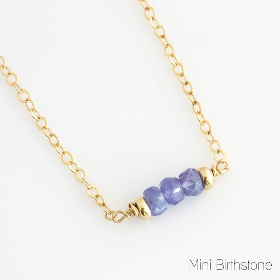 December Tanzanite Birthstone Necklace / Purple Birthstone Necklace / Birthstone Layering Necklace / December Birthday Gift for Friend