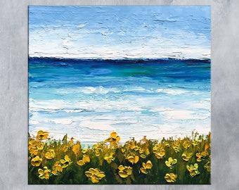 Beach Painting, Seascape art, Ocean painting, Abstract art, Oil painting, Monterey Bay, Modern wall art, Coastal art, Home decor, Gift ideas