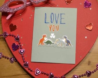 Dinosaur Love Valentine's Card