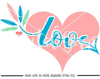 Love heart arrow svg / dxf / eps / png files. Digital download. Compatible with Cricut and Silhouette machines. Small commercial use ok.