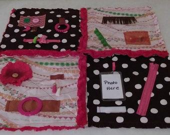 Fidget Quilt for Alzheimer's - Dementia Patients, Rag Quilt, Sensory Quilt, Lap Quilt