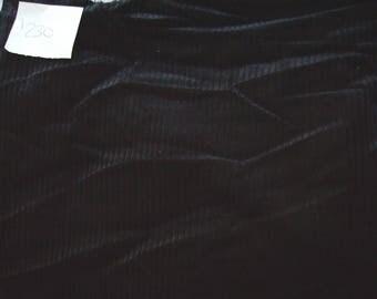 NO. 230 FABRIC CORDUROY - BLACK