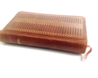 vintage french leather missal, prayer book