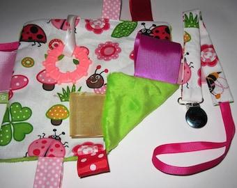 Blanket and pacifier Ladybug