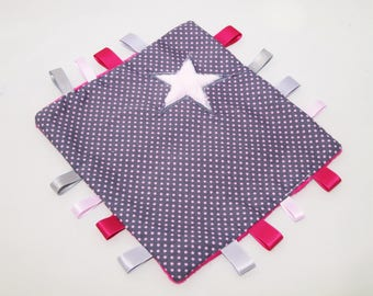 Blanket with polka dots and stars