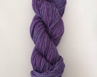 Bulky cotton yarn - tonal purple color