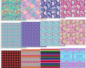 Oracal 651 Patterned Vinyl 12 inch by 12 inch Sheet - 12 Sheet Assorted Pack