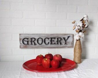 farmhouse sign, kitchen sign, farmhouse kitchen, farmhouse wall decor, grocery sign, kitchen wall decor, kitchen decor, handpainted signs