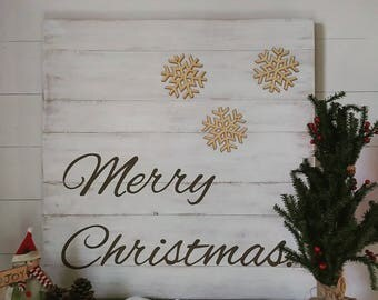 Gift, Merry Christmas, distressed Christmas sign, handpainted Christmas sign, holiday decor, handmade holiday decor, distressed wood sign